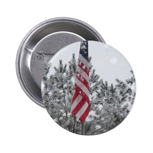 snowy day flag button