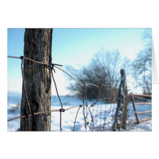 Snowy day on the farm stationery note card