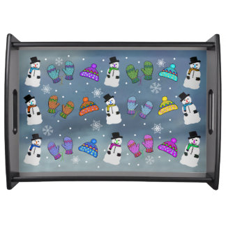 Snowy Day Serving Tray