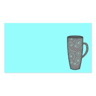 SNOWY DAY TALL MUG GREY GRAY AQUA BLUE COFFEE TEA BUSINESS CARD TEMPLATES
