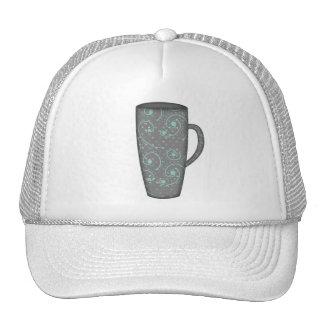 SNOWY DAY TALL MUG GREY GRAY AQUA BLUE COFFEE TEA TRUCKER HAT