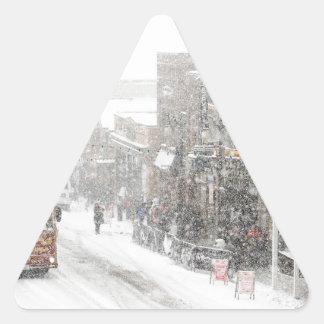 snowy day triangle sticker