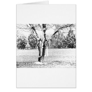 Snowy Day with Trees Greeting Card