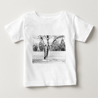Snowy Day with Trees T-shirts