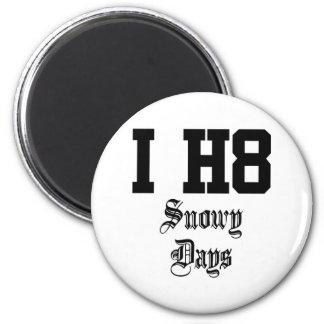 snowy days 6 cm round magnet
