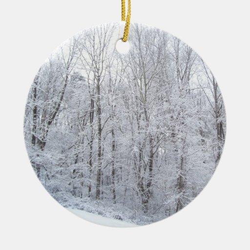 snowy days christmas tree ornaments