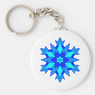 Snowy Dreams Basic Round Button Key Ring