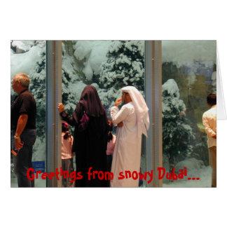 Snowy Dubai Card