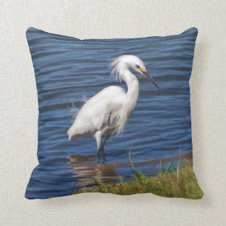 Snowy Egret at the Pond Cushion
