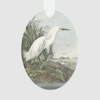 Snowy Egret by Audubon Ornament