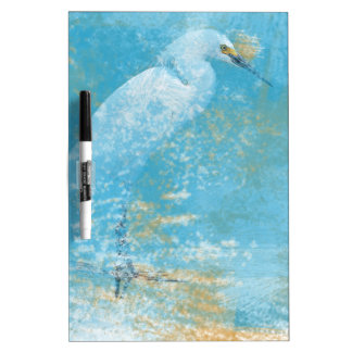 Snowy Egret Dry Erase Board