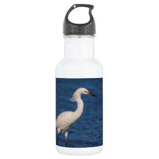 Snowy Egret on North Beach 532 Ml Water Bottle