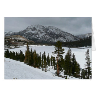 Snowy Ellery Lake California Winter Photography Card
