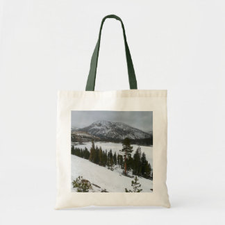 Snowy Ellery Lake California Winter Photography Tote Bag