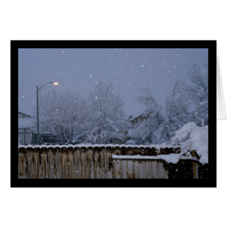 Snowy Evening- Song of Sol. 2:3 Greeting Card