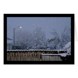 Snowy Evening- Song of Sol. 5:2 Greeting Card