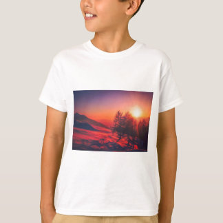 Snowy Evening Sunset T-Shirt