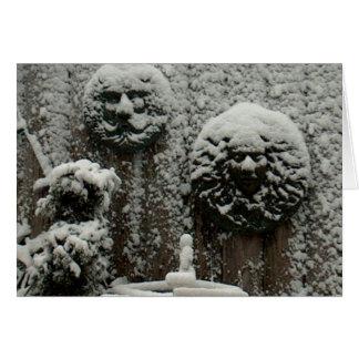 Snowy Faces Card