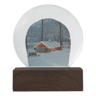 Snowy Farm Scene Snow Globes