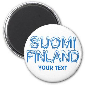 Snowy Finland custom magnet
