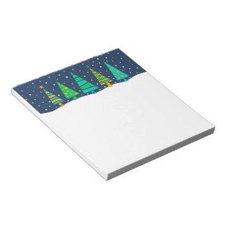 Snowy Fir Trees Notepad