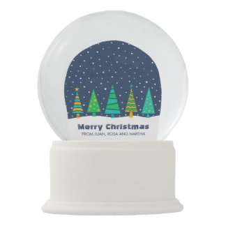 Snowy Fir Trees Snowglobe