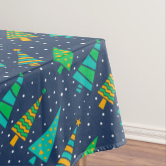 Snowy Fir Trees Tablecloth