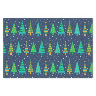 Snowy Fir Trees Tissue Paper
