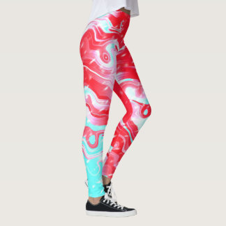 Snowy Fire and Ice Leggings