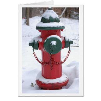 Snowy Fire Hydrant Greeting Card