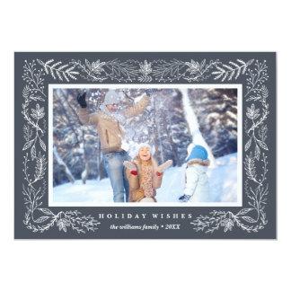 Snowy Foliage | Holiday Photo Card