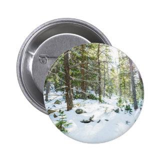 Snowy Forest Wilderness Playground 6 Cm Round Badge