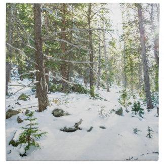 Snowy Forest Wilderness Playground Napkin