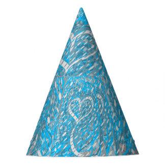 Snowy Frozen Heart Party Hat