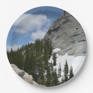 Snowy Granite Domes II Yosemite National Park Paper Plate