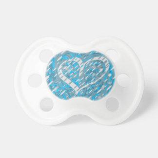 Snowy Heart Pacifier