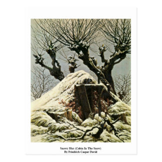 Snowy Hut (Cabin In The Snow) Postcard