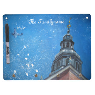 Snowy Krakow Dry Erase Board With Key Ring Holder
