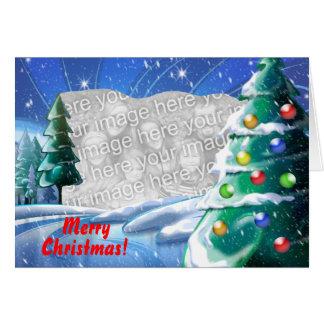 Snowy Lake Christmas Template Photo