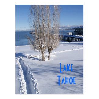 Snowy Lake Tahoe Postcard