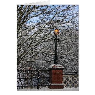 Snowy Lamp Card