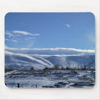 Snowy Landscape and blue skies Mouse Pads