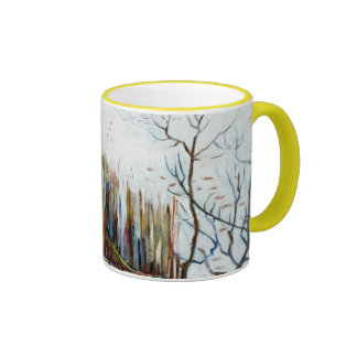 Snowy Landscape with Arles in the Background Coffee Mugs