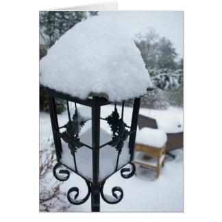 Snowy Lantern Card