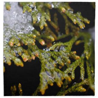 snowy leaves napkin