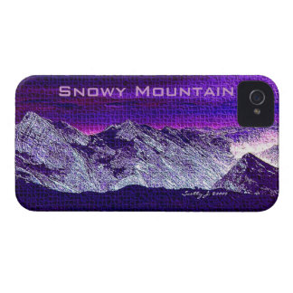 """Snowy Mountain"" © 2009 S.J. iPhone 4 Case-Mate Cases"