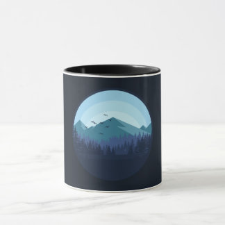 Snowy Mountain Landscape mug