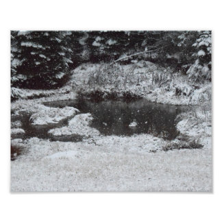 Snowy Mountain Morning Photo Print