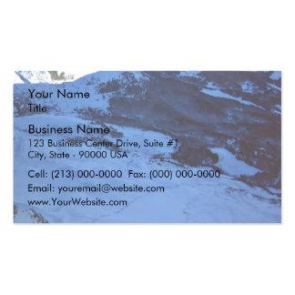 Snowy mountain on a sunny day business card