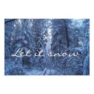 Snowy Mountain Photo Print